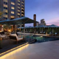 Sofitel Bangkok Sukhumvit Pool at night